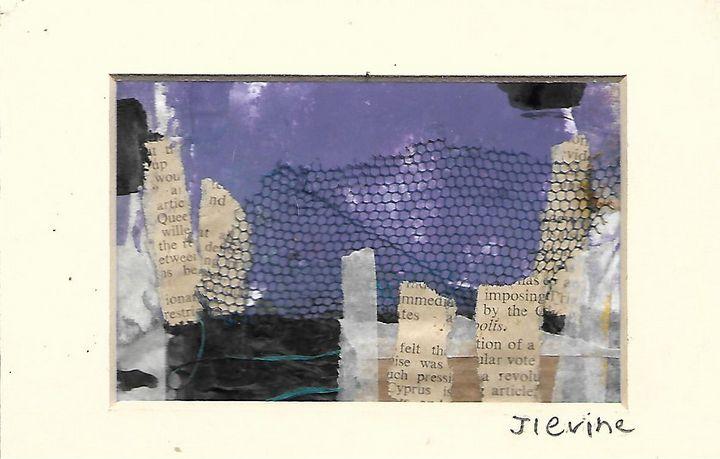 Mixed media collage 6 - Jess Levine Artist
