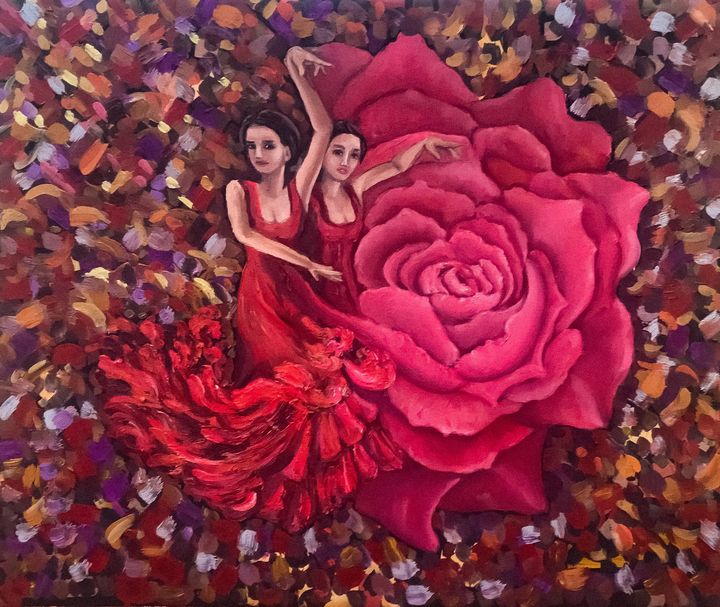 Flamenco, Passion and courage - Pintor Nicolas