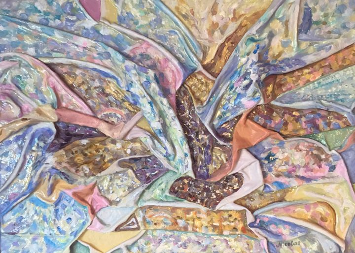 Tenderness, original abstract art - Pintor Nicolas