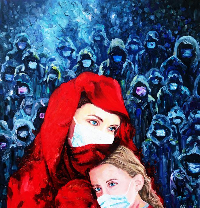 Infierno/ original abstract art/ - Pintor Nicolas