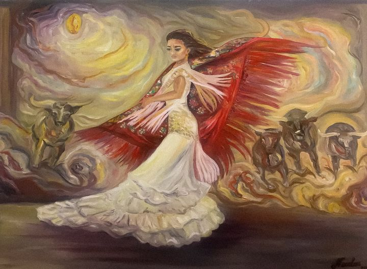 """Flamenco - Passion and courage"" - Pintor Nicolas"