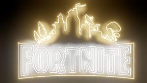 Fortnite Neon geek game sign