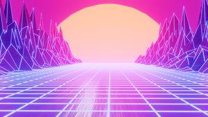 80s Retro Sunset