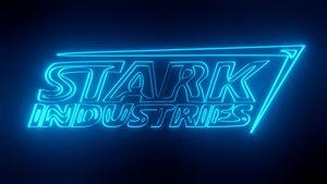 Tony Stark Industries Avengers neon