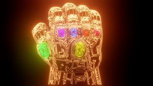 Thanos infinity gauntlet neon sign