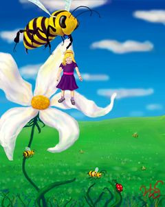 Cindy Saw Such Big Bees Beneath Her!