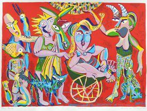 Parade, silkscreen, 20 x 24 inch