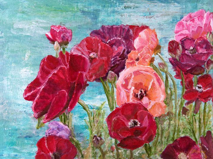 Oh, Giant Tecolote Ranunculus - Darla Nyren, Artist - Breeze Hill Art
