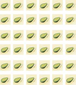 Avocados in a row