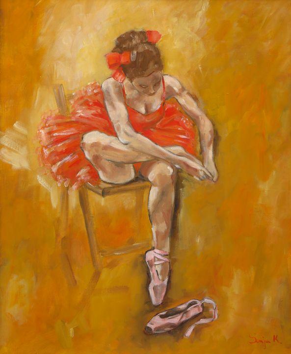 Ballerina in red - Sonja.K