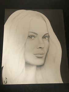 Margot Robbie Original Pencil Sketch
