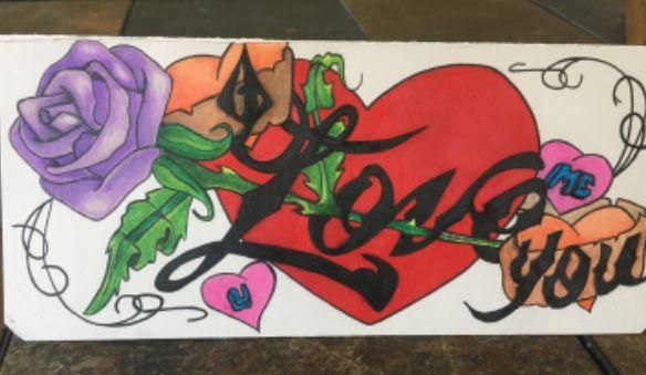 I Love You greeting card - Inmate Artworks