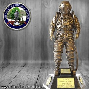 Siebe Gorman Standard Diver Statue - Bronze Diver Fine Art
