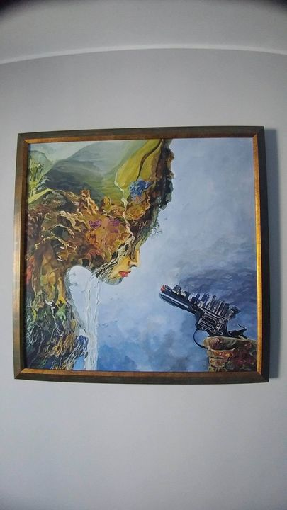 Original painting signed by George M - George Miron