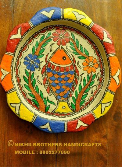 Paper Machie Plate - nikhilbrothershandicrafts
