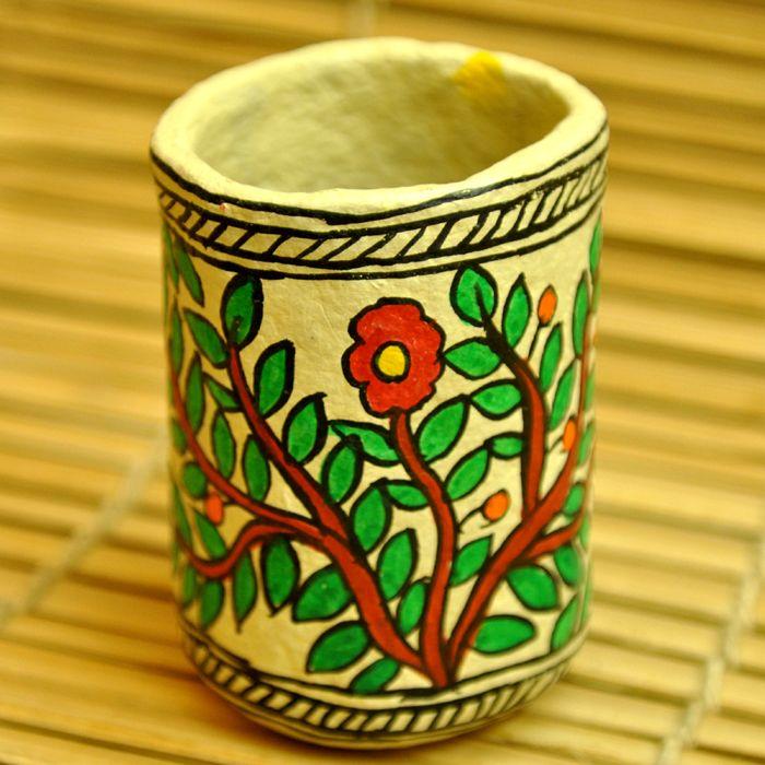 Paper Machie Pen Holder - nikhilbrothershandicrafts
