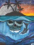 Skull island painting