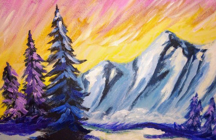 Snowy mountains - ArtprincessShop