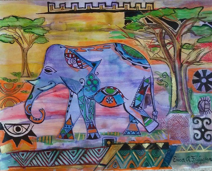 African Elephant - Flyprint