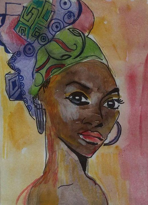 African Woman - Flyprint