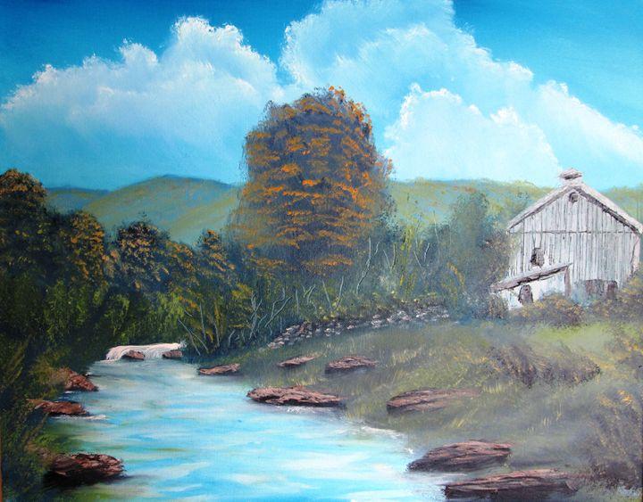 New York Barn by the Stream - Dan's Creations
