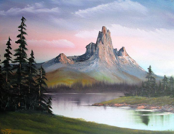 Rocky Sunlit Mountain - Dan's Creations