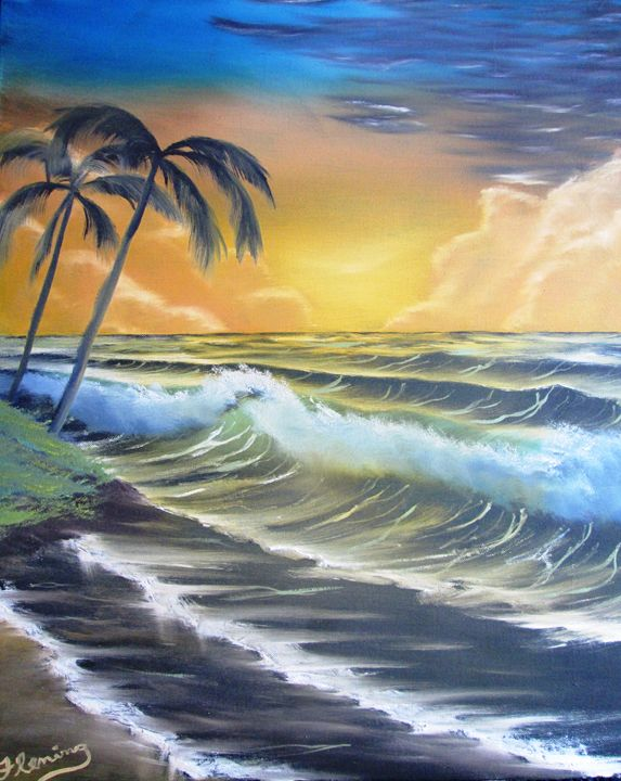 Tropical Ocean Sundown - Dan's Creations