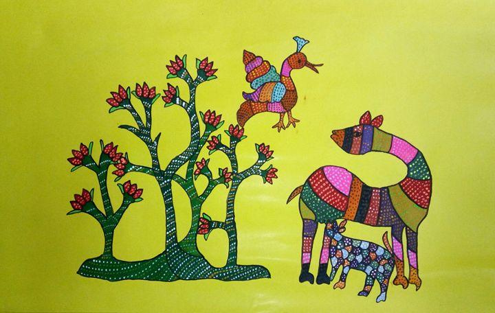 Gond painting - Dr.mitalkumari Patel