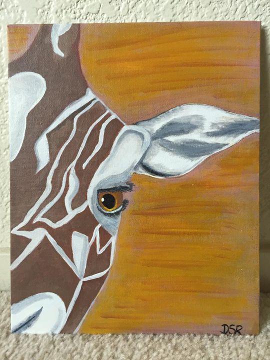 Close Up Giraffe Face - Dee's SplashWorks