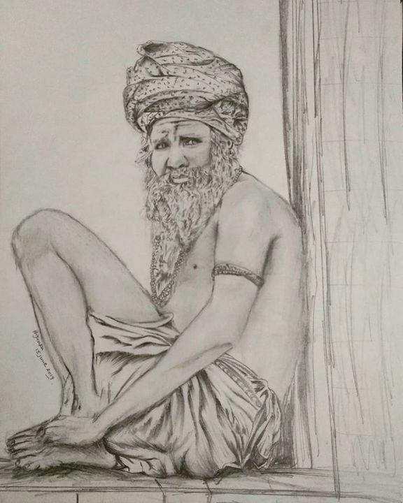 Old Man(Aghori Sant) - Priyanka