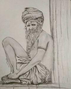 Old Man(Aghori Sant)