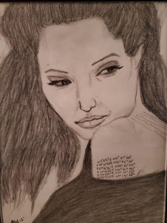 Angelina Jolie Wind - AAnsel Hand Portraits