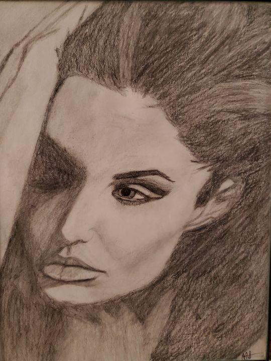 Angelina Jolie Side - AAnsel Hand Portraits