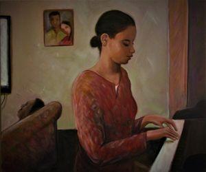 Shante at her piano