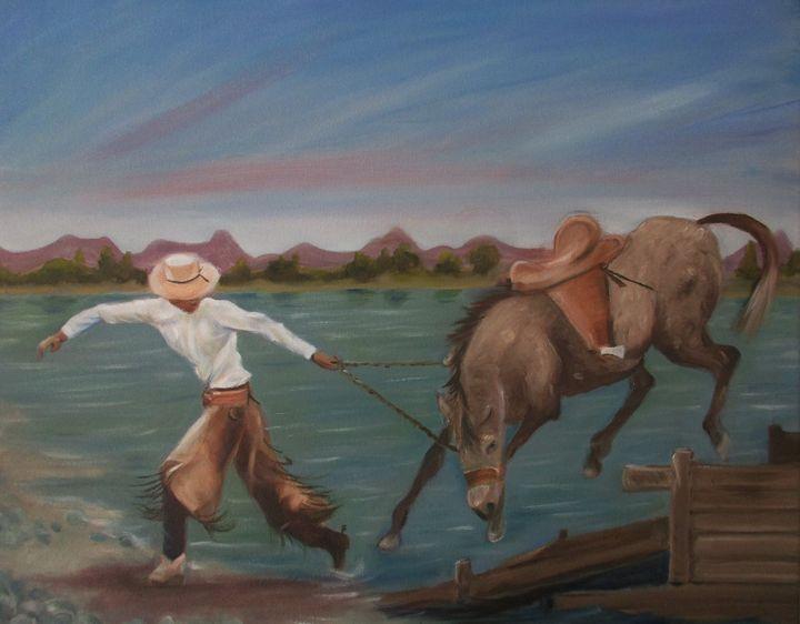 River Cowboy - Art By Cyril