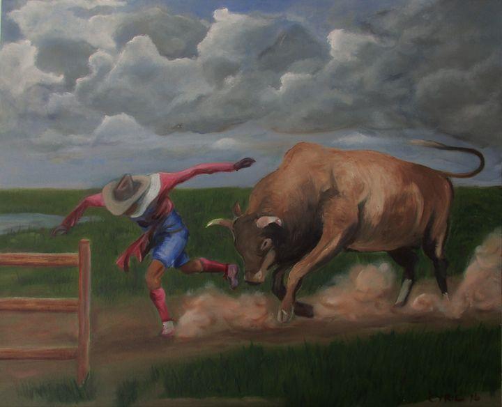 Cowboy run - Art By Cyril