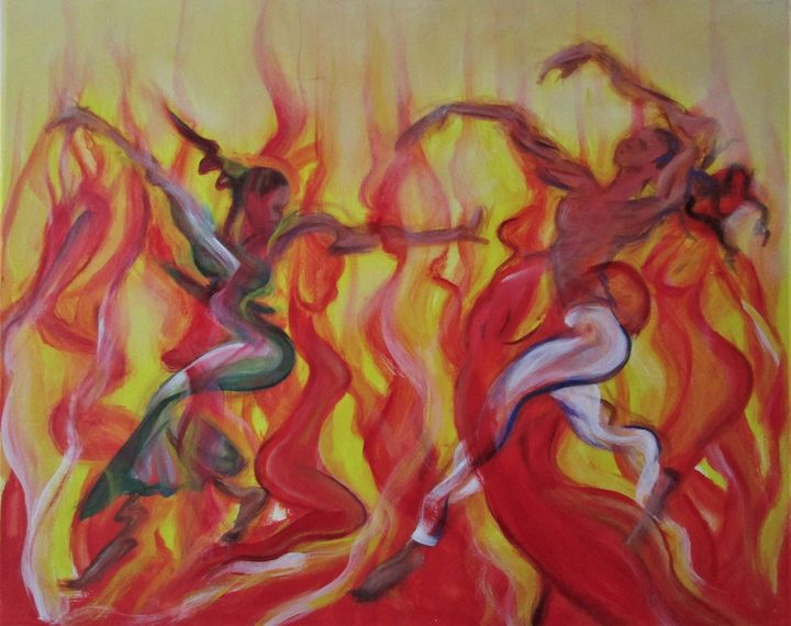 fire dancers - Art By Cyril