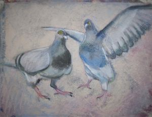 The birds ( in pastel)