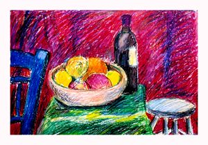 Still life in red