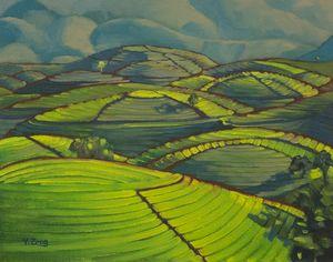 Tea plantation landscape study