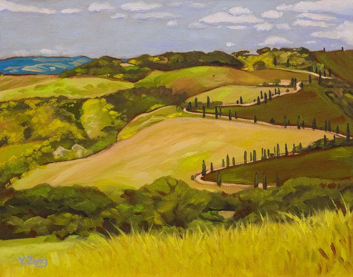 Tuscany landscape study - Yue Zeng