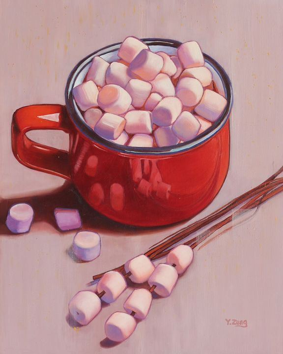 Hot chocolate and marshmallows - Yue Zeng
