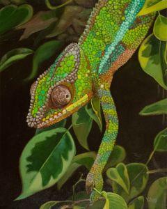 Chameleon portrait - Yue Zeng
