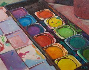 Color palette Oil painting