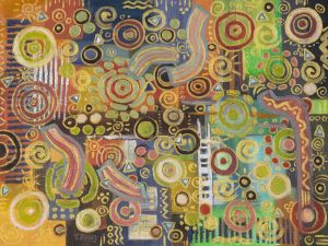 Abstract oil painting_1_Celebration