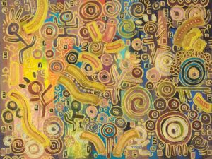 Abstract oil painting_4_Stick man