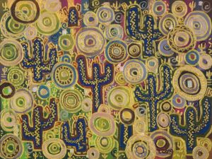 Abstract oil painting_5_Cactus patch