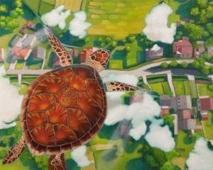 Flying turtle Cruising altitude
