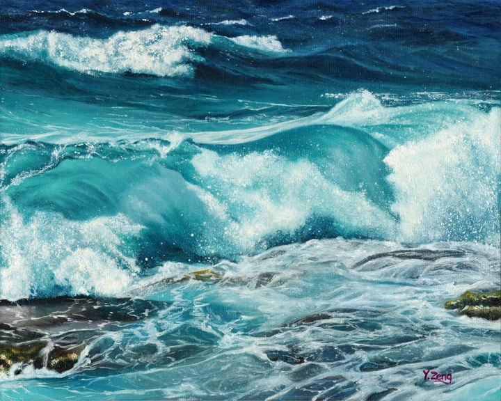 Oil painting - Wave - Yue Zeng