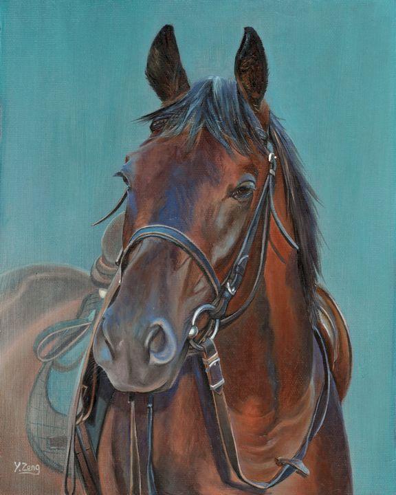 Oil painting - Horse portrait - Yue Zeng